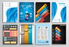 Set of Flyer Design, Infographics. Brochure Designs Royalty Free Stock Image