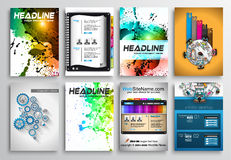 Set of Flyer Design, Infographics. Brochure Designs Stock Photo
