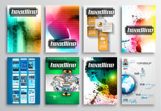 Set of Flyer Design, Infographics. Brochure Designs, Royalty Free Stock Photo