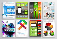Set of Flyer Design, Infographics. Brochure Designs Stock Photos