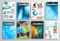 Set of Flyer Design, Infographics Layout, Brochure Designs Stock Photos