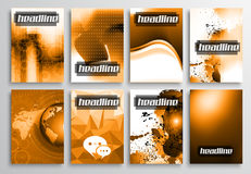 Set of Flyer Design, Infographics Layout, Brochure Designs Royalty Free Stock Photography