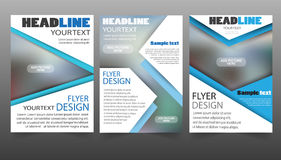 Set of Flyer design. Vector business Royalty Free Stock Photos