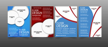 Set of Flyer design. Vector business Stock Images