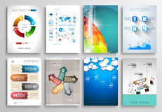 Set of Flyer Design, Web Templates. Brochure Designs Royalty Free Stock Images