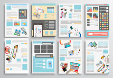 Set of Flyer Design, Web Templates. Brochure Designs Stock Photo