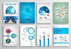 Set of Flyer Design, Web Templates. Brochure Designs Stock Image