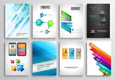 Set of Flyer Design, Web Templates. Brochure Designs, Royalty Free Stock Photo