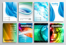 Set of Flyer Design, Web Templates. Brochure Designs, Technology Backgrounds Stock Images