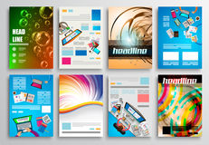 Set of Flyer Design, Web Templates. Brochure Designs Stock Photography
