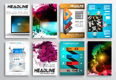 Set of Flyer Design, Web Templates. Brochure Designs Royalty Free Stock Image