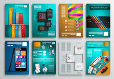 Set of Flyer Design, Web Templates. Brochure Designs Royalty Free Stock Photos