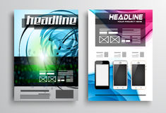 Set of Flyer Design, Web Templates. Brochure Designs Stock Photos