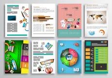 Set of Flyer Design, Web Templates. Brochure Designs Stock Images