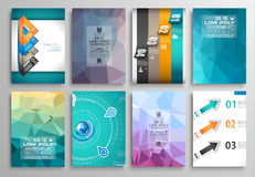 Set of Flyer Design, Web Templates. Brochure Designs, Technology Backgrounds. Royalty Free Stock Photo