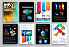 Set of Flyer Design, Web Templates. Brochure Designs, Technology Backgrounds. Royalty Free Stock Photos