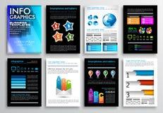 Set of Flyer Design, Web Templates. Brochure Designs, Technology Backgrounds. Stock Images