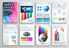 Set of Flyer Design, Web Templates. Brochure Designs, Technology Backgrounds. Mobile Technologies, Infographic ans statistic Concepts and Applications covers vector illustration