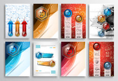 Set of Flyer Design, Web Templates. Brochure Designs Stock Photography
