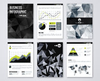 Set of Flyer with geometric Triangular Black Stock Photography
