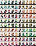 Set of 100 flyer templates Stock Photos