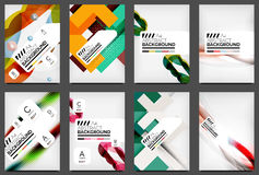 Set of Flyer Templates, Business Web Layouts Royalty Free Stock Photos