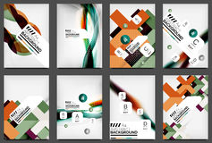 Set of Flyer Templates, Business Web Layouts Royalty Free Stock Photography