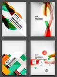 Set of Flyer Templates, Business Web Layouts Royalty Free Stock Photo