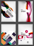 Set of Flyer Templates, Business Web Layouts. Modern business web online layout Stock Images