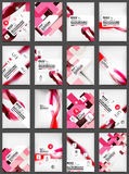Set of Flyer Templates, Business Web Layouts Stock Photo