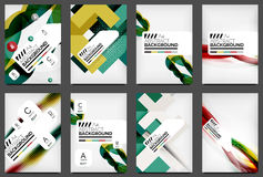Set of Flyer Templates, Business Web Layouts Stock Photography