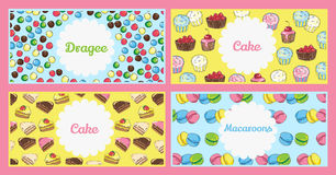 Set of flyer templates with text. Banners on the theme of food. And sweets Stock Photography