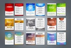 Set flyers and brochures polygonal Stock Image