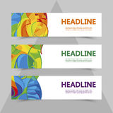 Set of flyers in color  Royalty Free Stock Photos