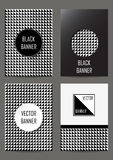 Set of  flyers in retro style Stock Photography