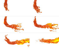 Set of flying fluid flow Royalty Free Stock Photos