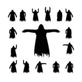 Set flying ghost silhouette Stock Image