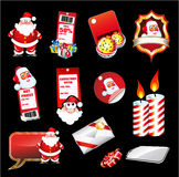 Set fo various Christmas Elements Stock Images