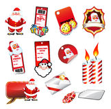 Set fo various Christmas Elements Stock Photos