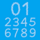 Set of Foam Bubble Numbers Stock Photography