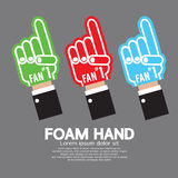 Set Of Foam Hand Royalty Free Stock Images