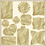 Set of foil cut golden shiny tags, Royalty Free Stock Photography