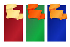 Folded_banners Royalty Free Stock Photos