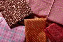 Set of folded tissues Royalty Free Stock Photos