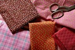 Set of folded tissues Stock Photos