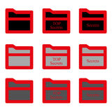 Set folder glyph icon. Vector EPS 10. Royalty Free Stock Photo