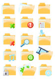Set of  folder icons Stock Photo