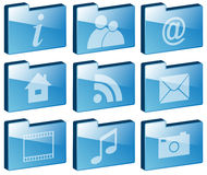 Set of Folder Icons Royalty Free Stock Images