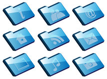 Set of Folder Icons Stock Photos