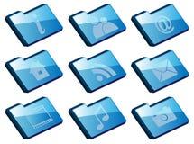 Set of Folder Icons vector illustration